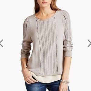 Lucky Brand Women's Metallic Mixed Sweater Size XL